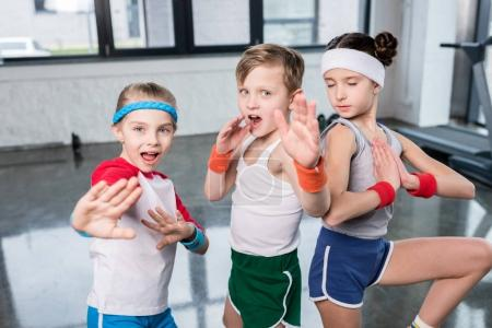 Active kids in sportswear