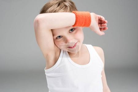 Little boy in sportswear