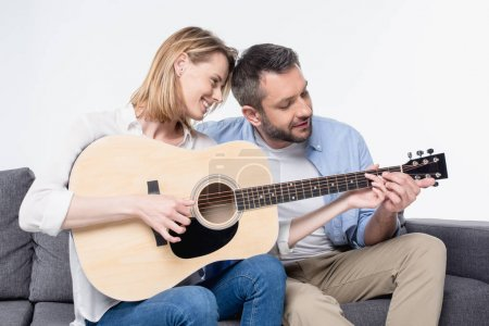 Couple playing guitar 3