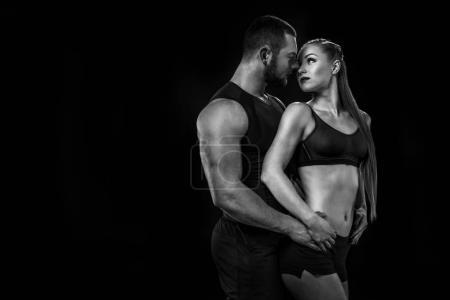 sensual sportive couple