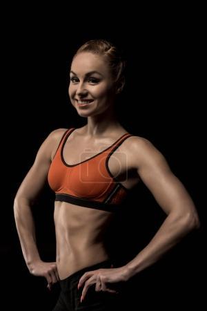 smiling sportive woman
