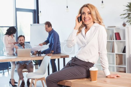 Middle aged businesswoman in office