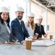 Group of multiethnic architects in suits