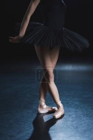 Ballet dancer in pointe shoes