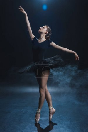 ballerina in black tutu