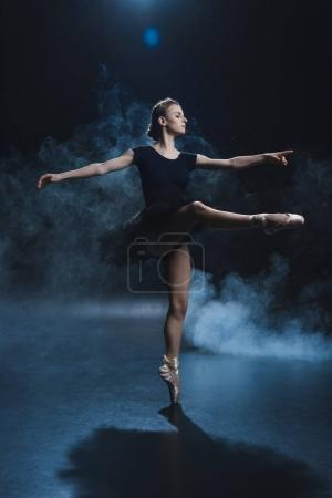 ballerina in black tutu