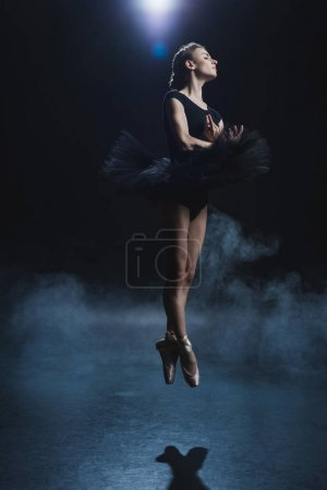 ballerina dancing in pointe shoes