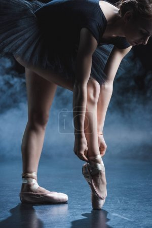 ballet dancer in black tutu