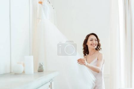 asian woman with wedding dress