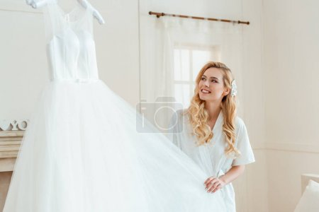 woman with wedding dress