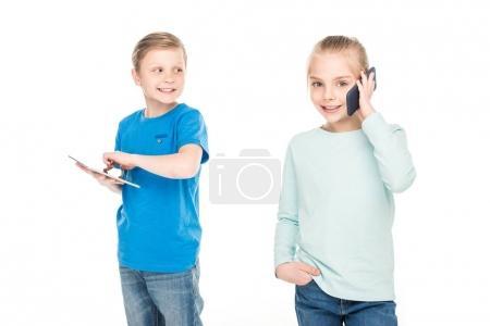 Children using digital devices