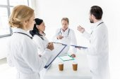 professional doctors working together