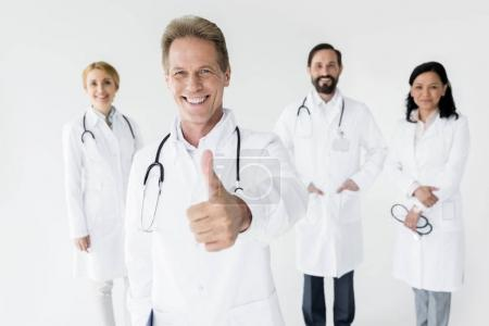 Doctor showing thumb up