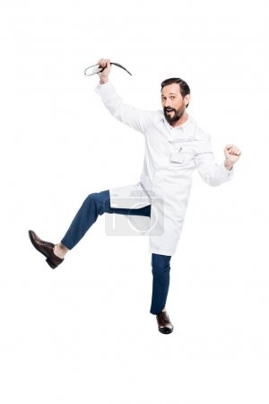 excited doctor