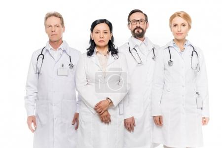 confident middle aged doctors