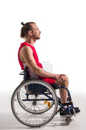 sportsman in wheelchair