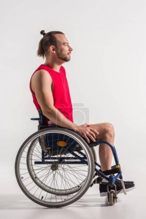 Disabled sportsman in wheelchair