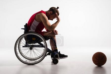 pensive disabled sportsman