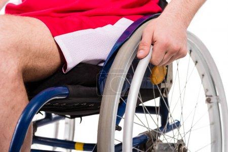 Handicapped sportsman in wheelchair