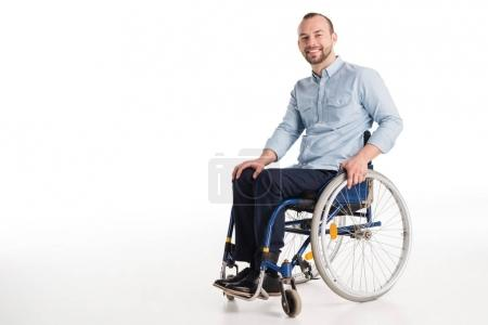 Handsome man in wheelchair