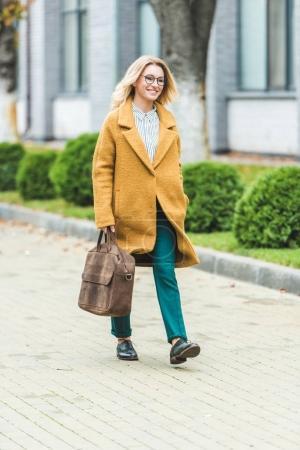 woman in yellow coat