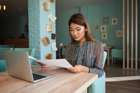 business woman or successful working in laptop computer