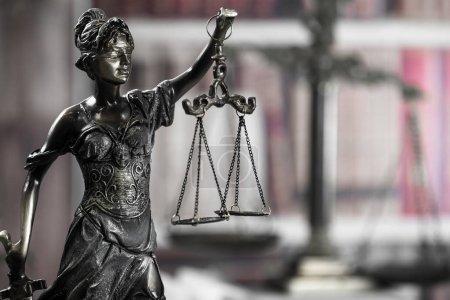 Photo pour Image de concept droit et Justice, thème de la salle d'audience - image libre de droit