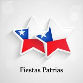 Illustration of Chile Flags for Fiestas Patrias celebrations