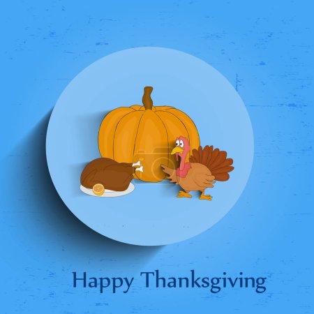 illustration of thanksgiving background
