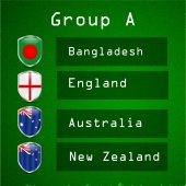 Illustration of shields with trophy and different countries flag for cricket background