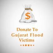 illustration of Gujarat Flood Background