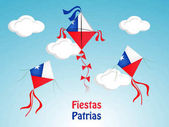 illustration of Chile's National Independence Day background