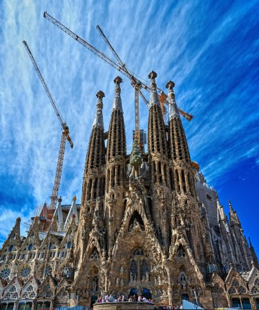 The facade of the Sagrada Familia