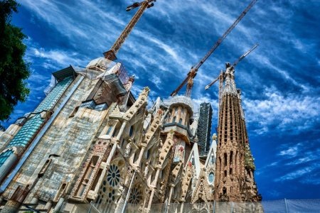 Beautiful view of the Sagrada Familia