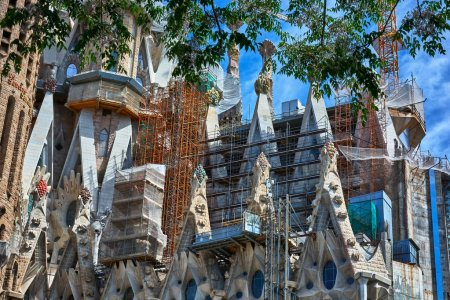 Architectural details of the Sagrada Familia