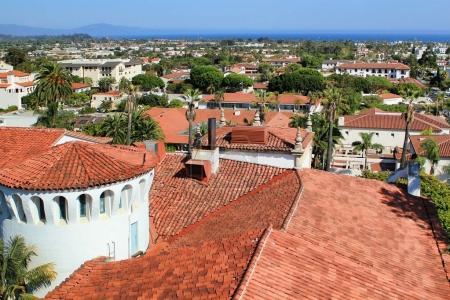 View of the city of Santa Barbara, California, USA