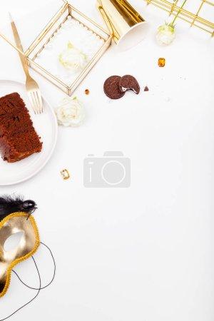 pieces of chocolate cake