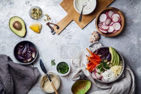 healthy vegetarian bowl