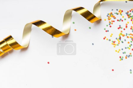Photo for Collection of colorful party accessories isolated on white background, close-up - Royalty Free Image