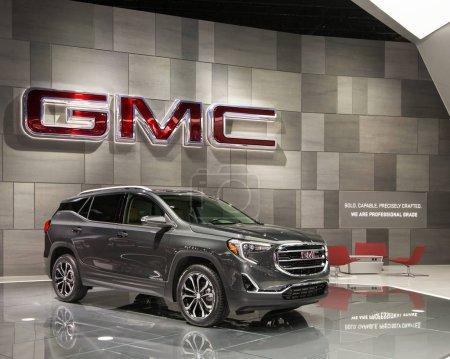 Photo pour Detroit, Mi/Usa - 10 janvier 2017: Un 2018 Gmc Terrain vus à la North American International Auto Show (Naias). - image libre de droit