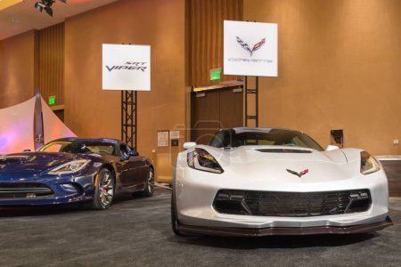 Poster: Dodge Viper GTS Chevrolet Corvette