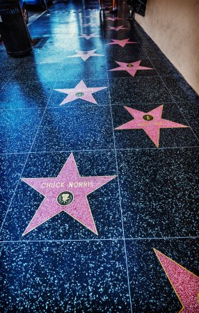 Chuck Norris star in Hollywood