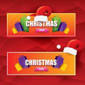Vektorové vánoční prodejní značky nebo označení