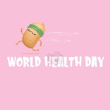World health day vector illustration with cartoon ...