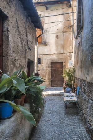 Pettorano sul Gizio (Abruzzi, Italy), historic village