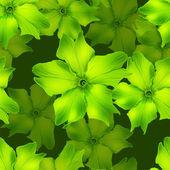 green flowers seamless 01
