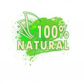 The sign natural product vector illustration clip-art