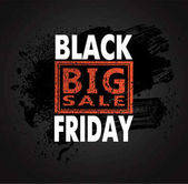 Black friday sale background vector illustration clip-art