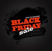 Black friday sale background vector illustration clip-art