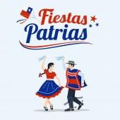 Fiestas Patrias - Independence Day celebration of Chile Spanish phrase